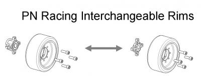 PN Racing Mini-Z Interchangeable Wheel Rims