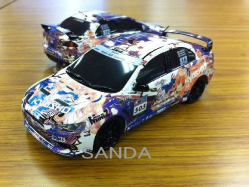 Mitsubishi Lancer Evolution X гоночной команды Kyosho Alice Motors